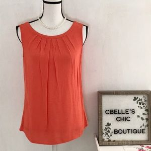 Boden Coral Sleeveless Back Tie Top Sz 6